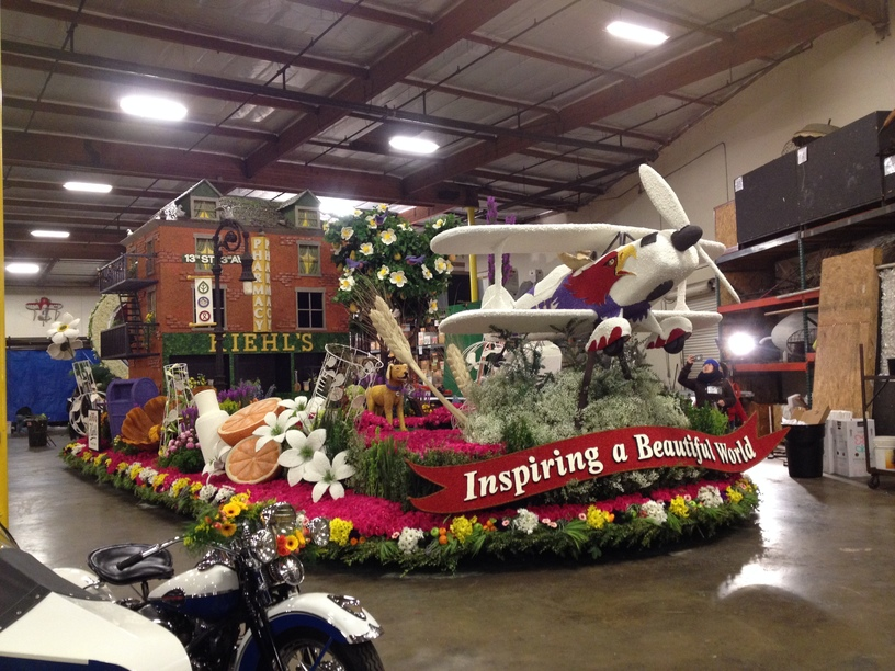 Finsihed float in the warehouse the day of the judging.