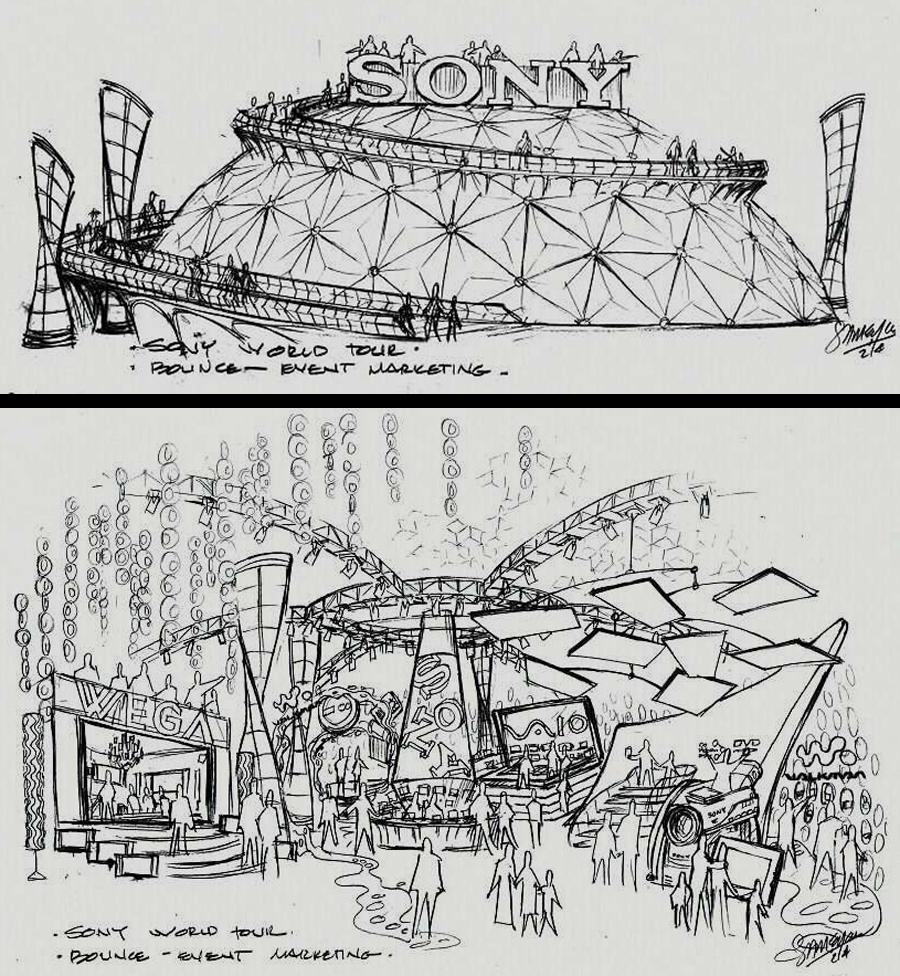 Sony World Tour Concept Sketches - Concept