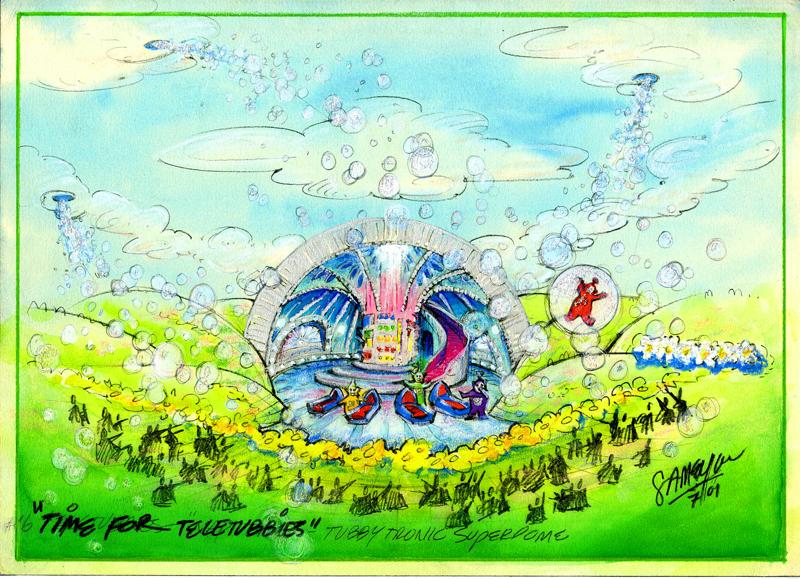 "Time for Teletubbies Color Concept Rendering - ""Bubbles"""