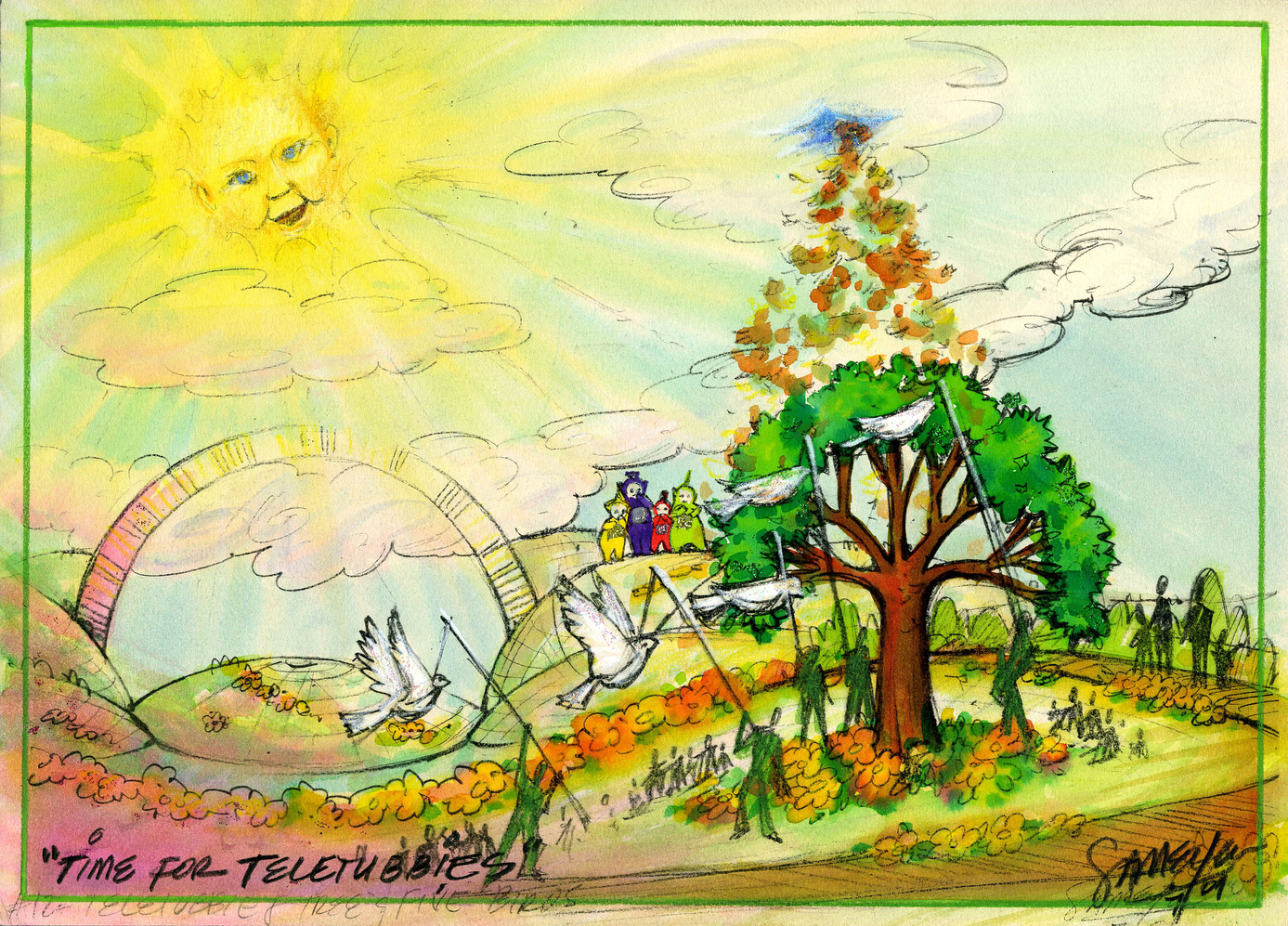"""Time for Teletubbies Color Concept Art - """"The Growing Tree"""""""