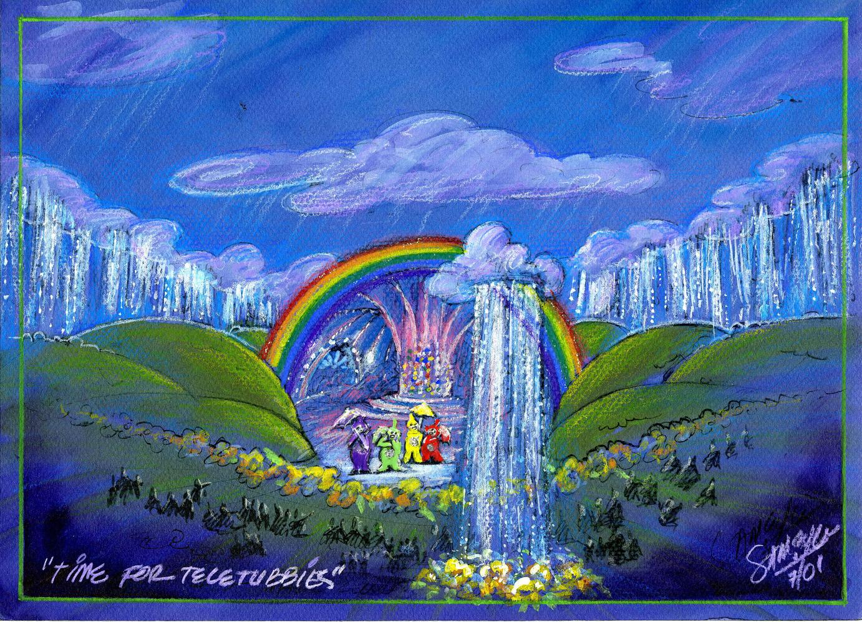 """Time for Teletubbies Color Concept Art - """"Rain & Clouds"""""""