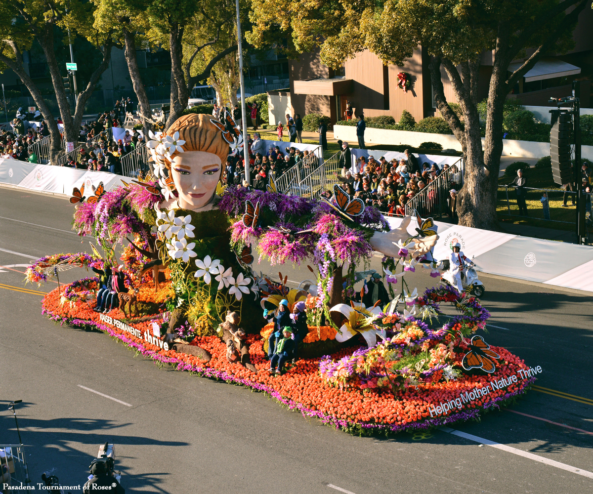 Kaiser Permanente Finished float on the street
