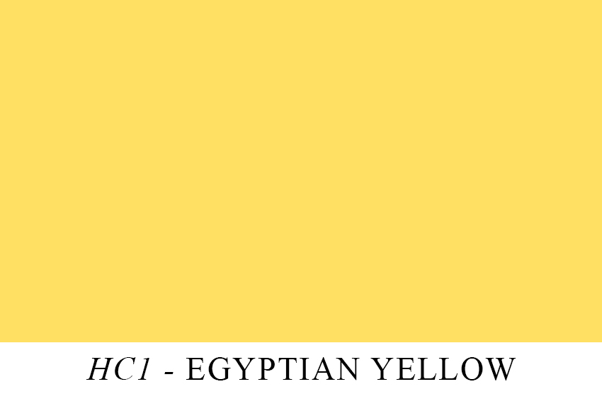 Egyptian Yellow comes from Egypt don't you know.