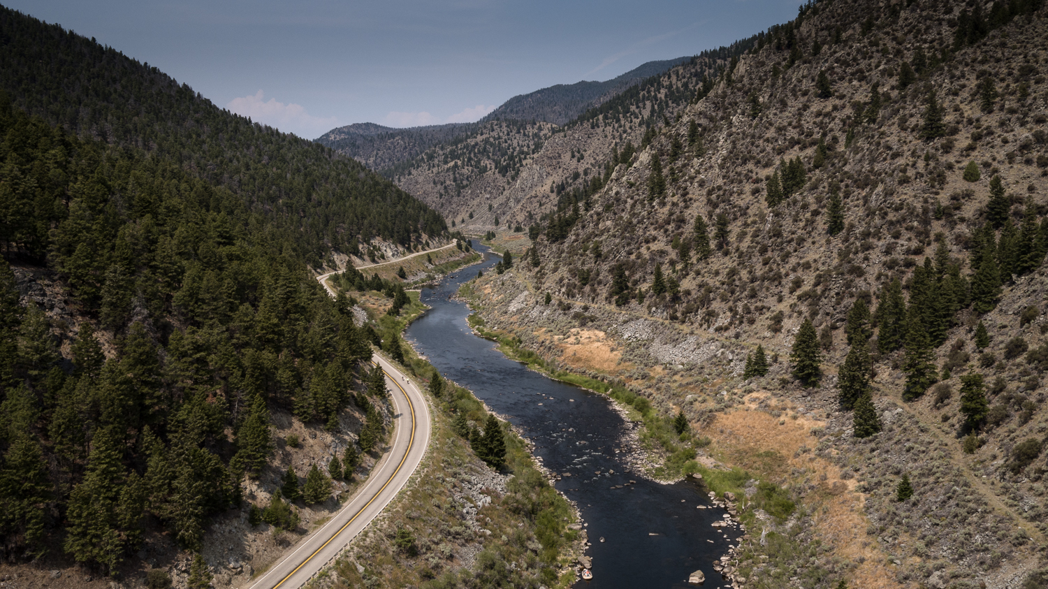 """Big Hole River, on the way to the """"Dewey Bar"""""""