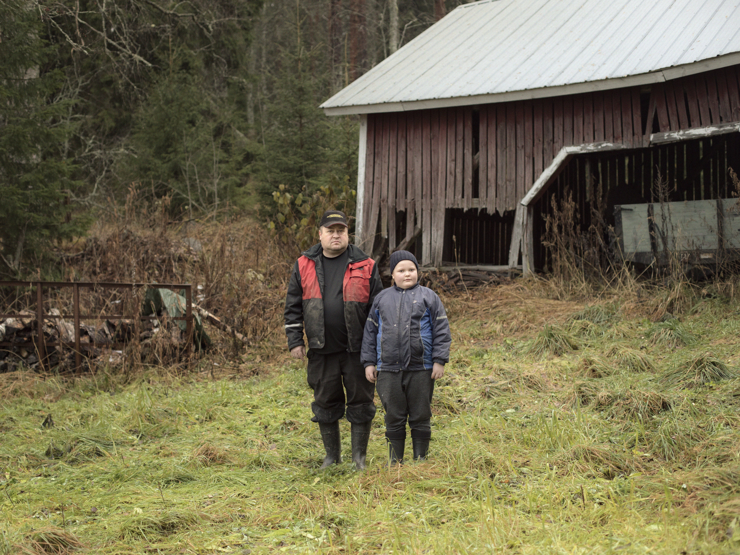 """""""It would feel terrible to leave the place after so many generations,"""" Esa Peijari says. His ancestors have grown the fields in the summer and cut down the trees in the winter all the way back to the Finnish independence. His son Paul-Henrik at eight is ready to take over the Peijari farm in the future."""