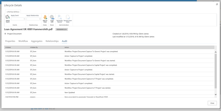 Track and report on content audit activities across SharePoint using Collabware CLM audit tracking and reporting capabilities.