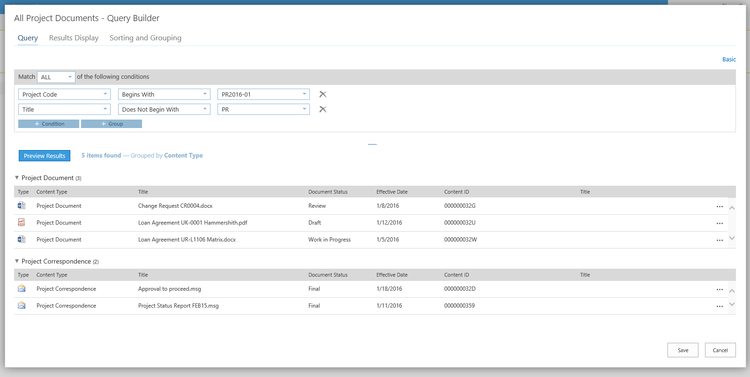 Use advanced metadata search to quickly locate, sort, filter, and group SharePoint content.
