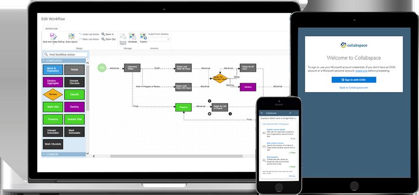 Collabware CLM Workflow Builder Dashboard