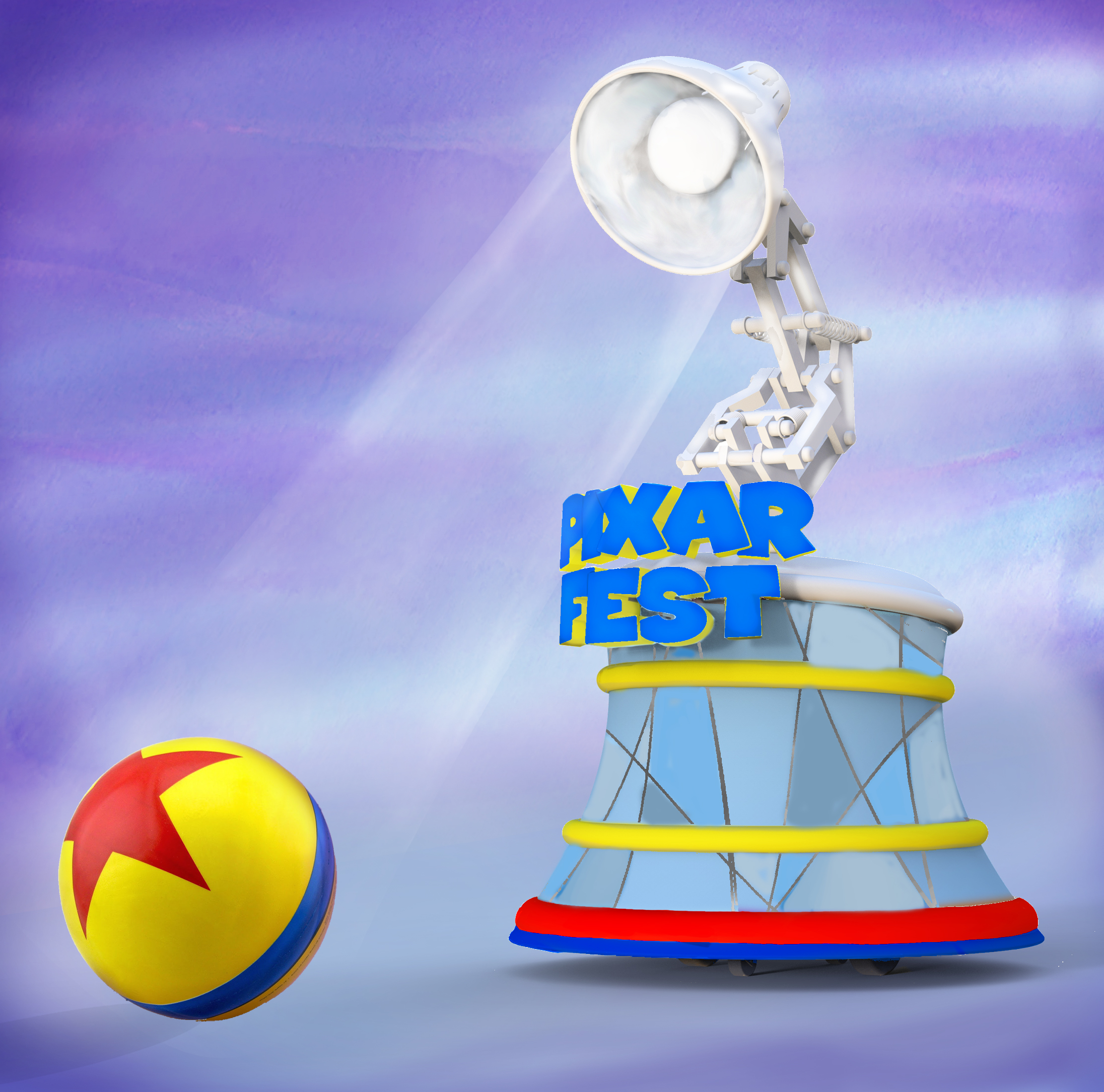 The parade will begin as all Pixar films have, with an appearance by the iconic and adorable Pixar Lamp. Rolling ahead of the famous lamp will be the familiar yellow Pixar Ball, making a cameo in Pixar Play Parade, as it has in many Pixar films.