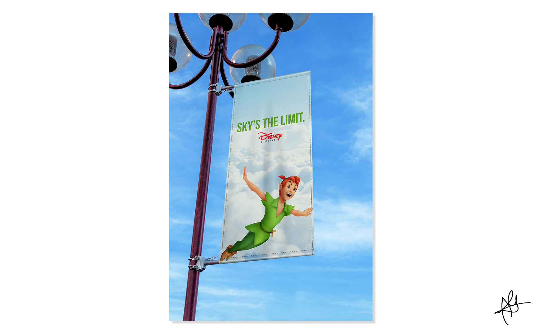 DISNEY AIRLINES CAMPAIGN - LAMP POST MOCKUP