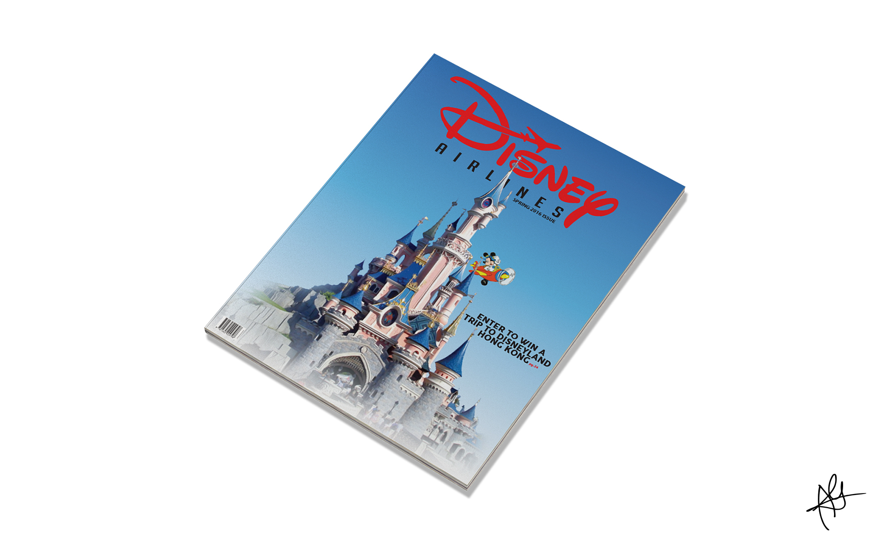DISNEY AIRLINES CAMPAIGN - AIRLINE MAGAZINE