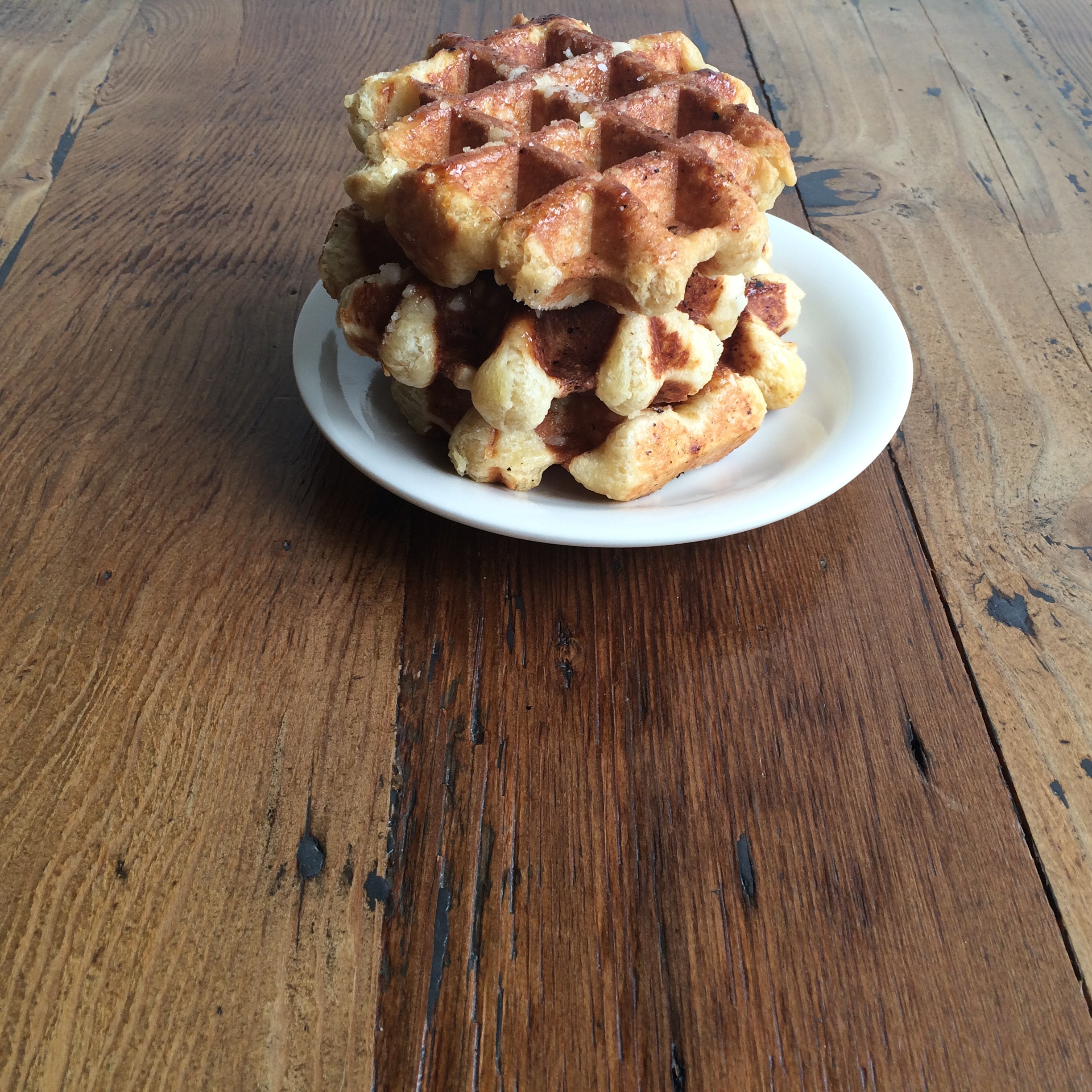 Liege style Belgian Waffles at Curio Coffee in Cambridge, MA.