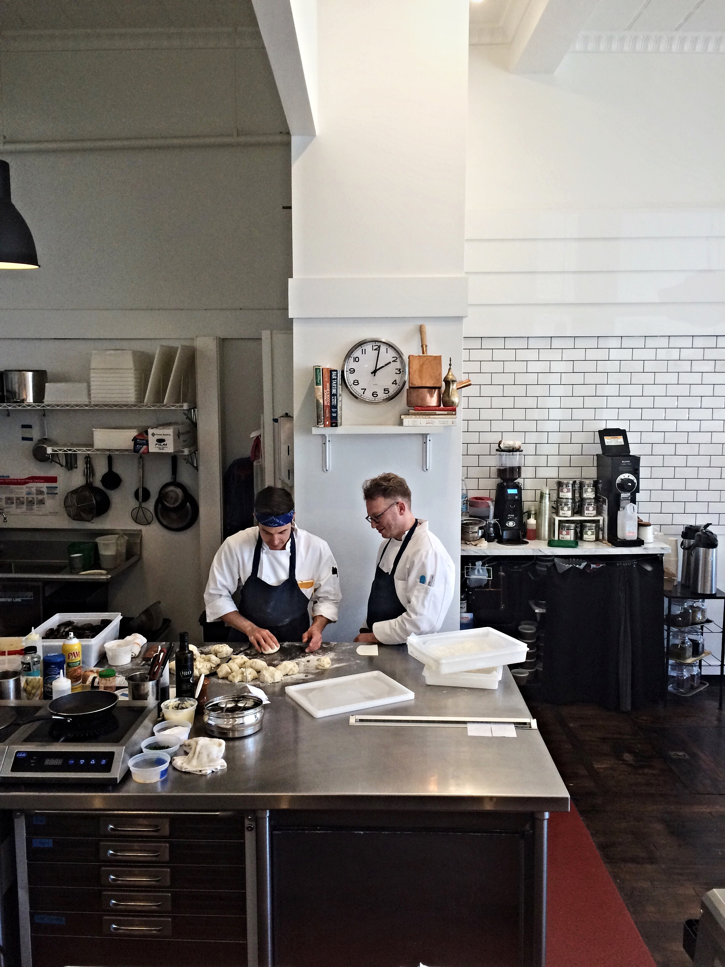 The open kitchen at Juliet