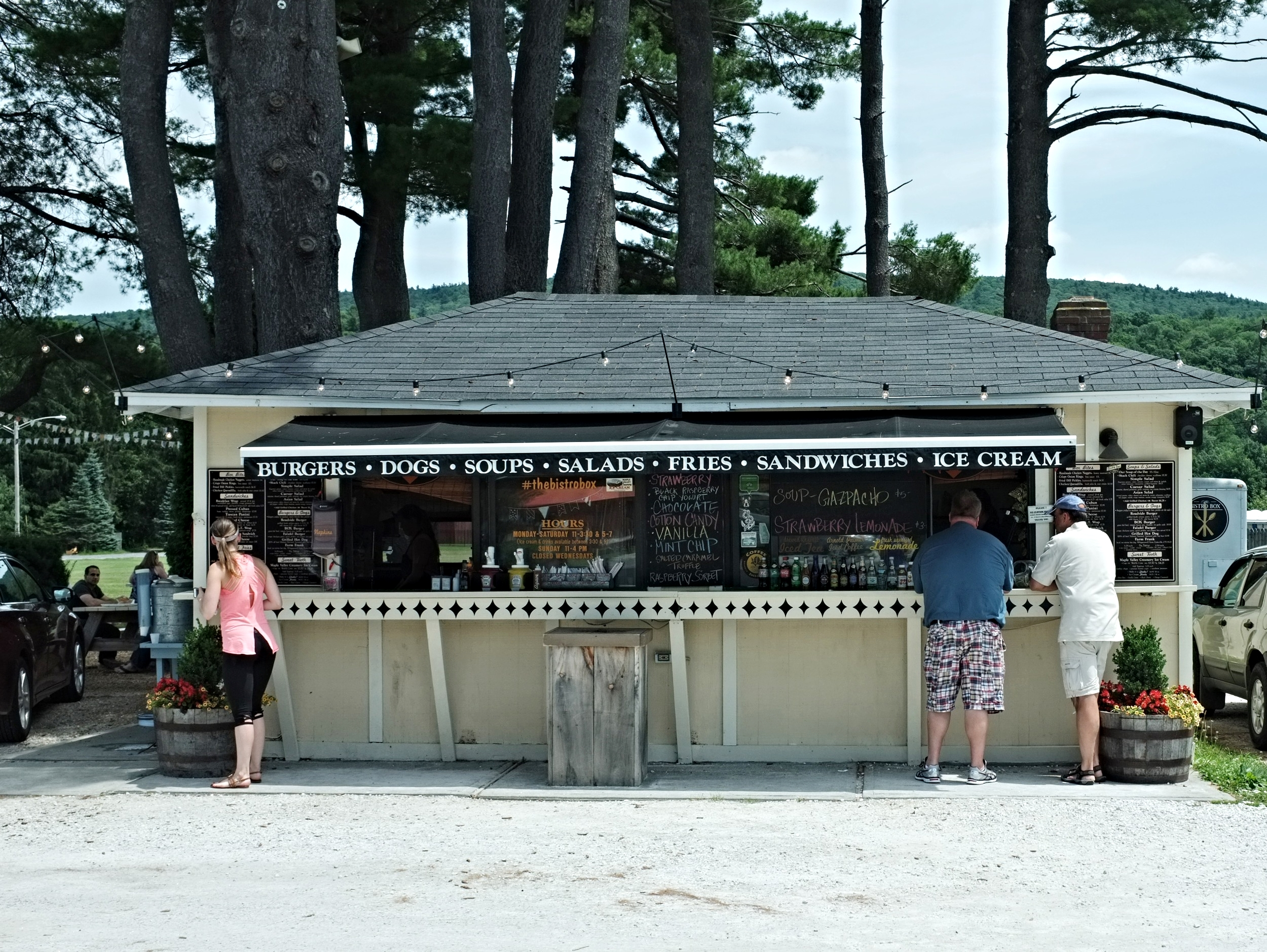 the Bistro Box counter where you place your order.