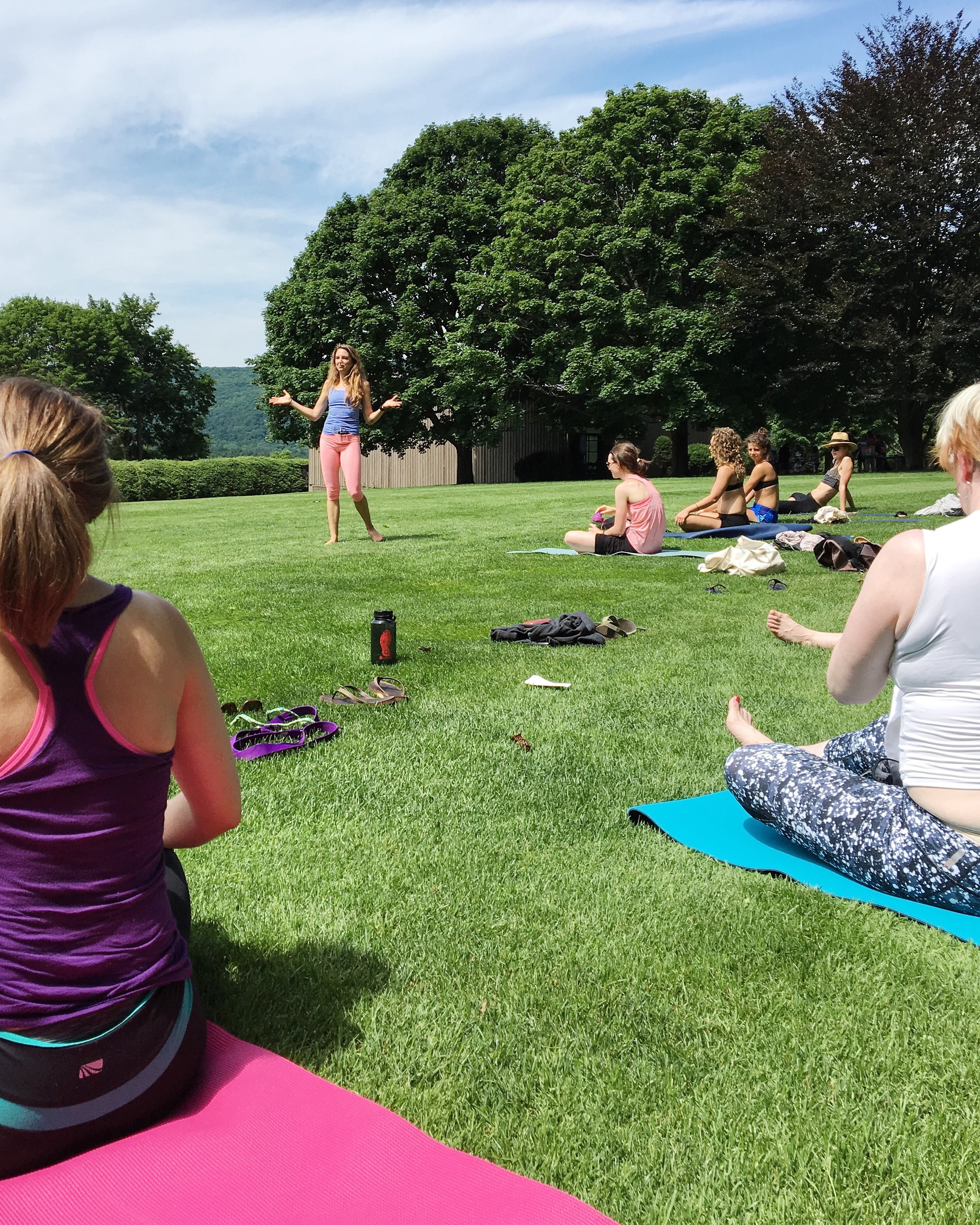 Kripalu Yoga instructor in action.