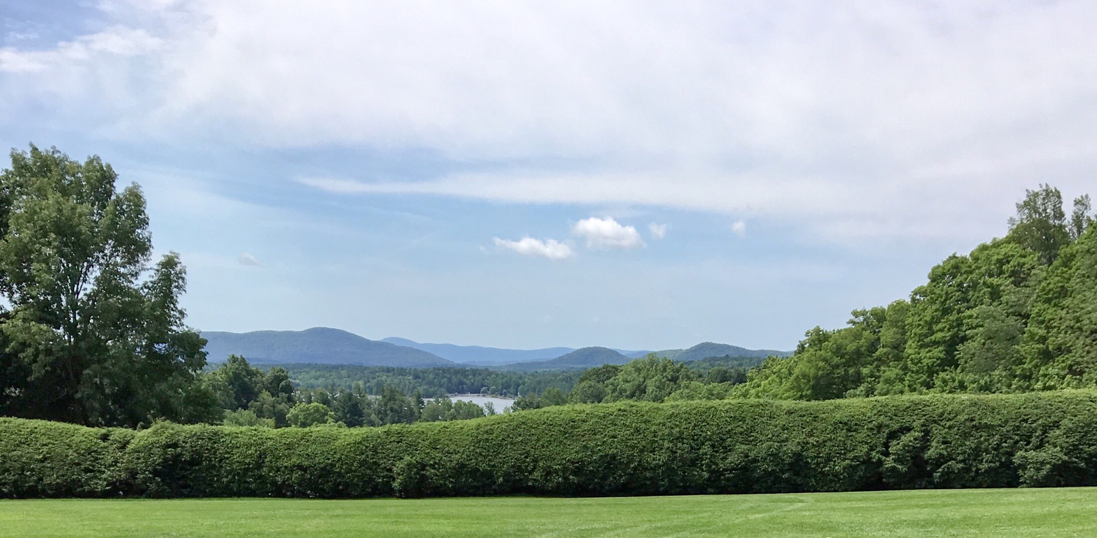 Overlooking the Stockbridge Bowl from the lawn at Tanglewood.