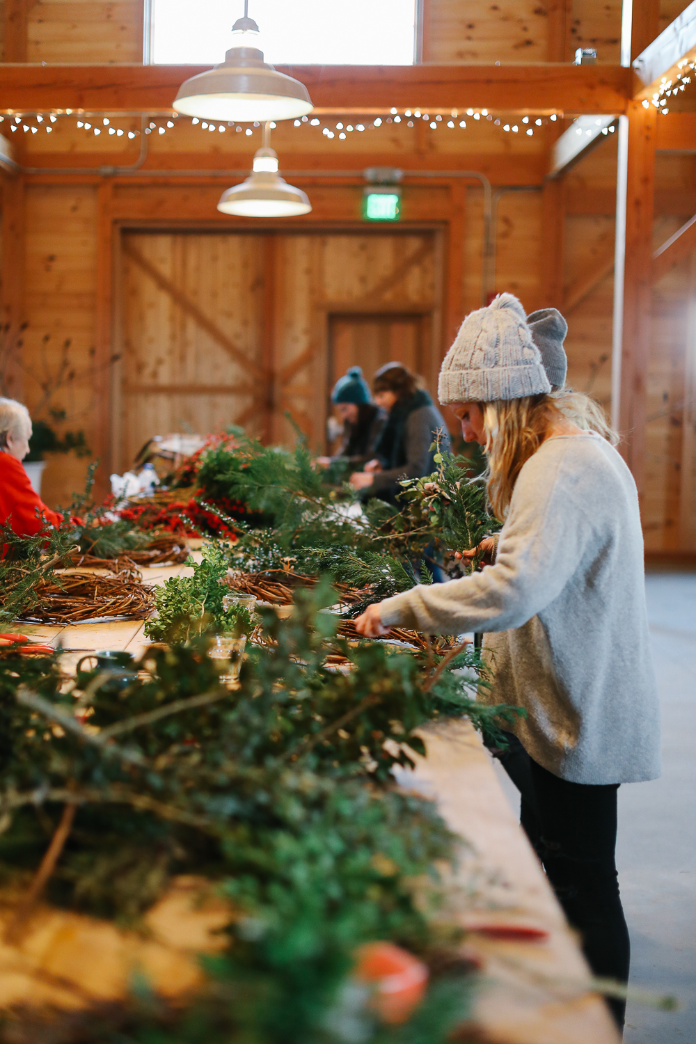 Wreath making!