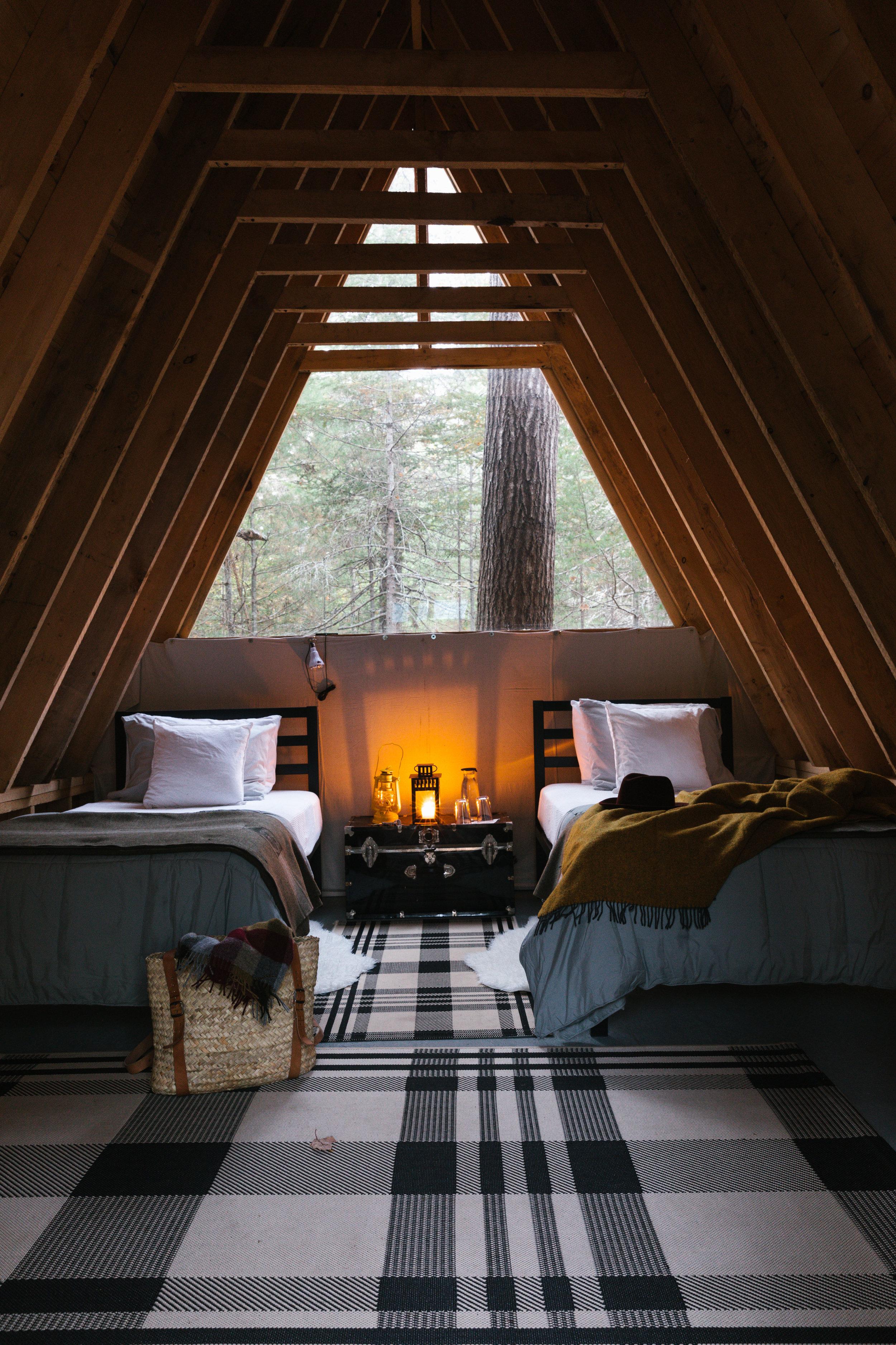 The interior of cabin #4.