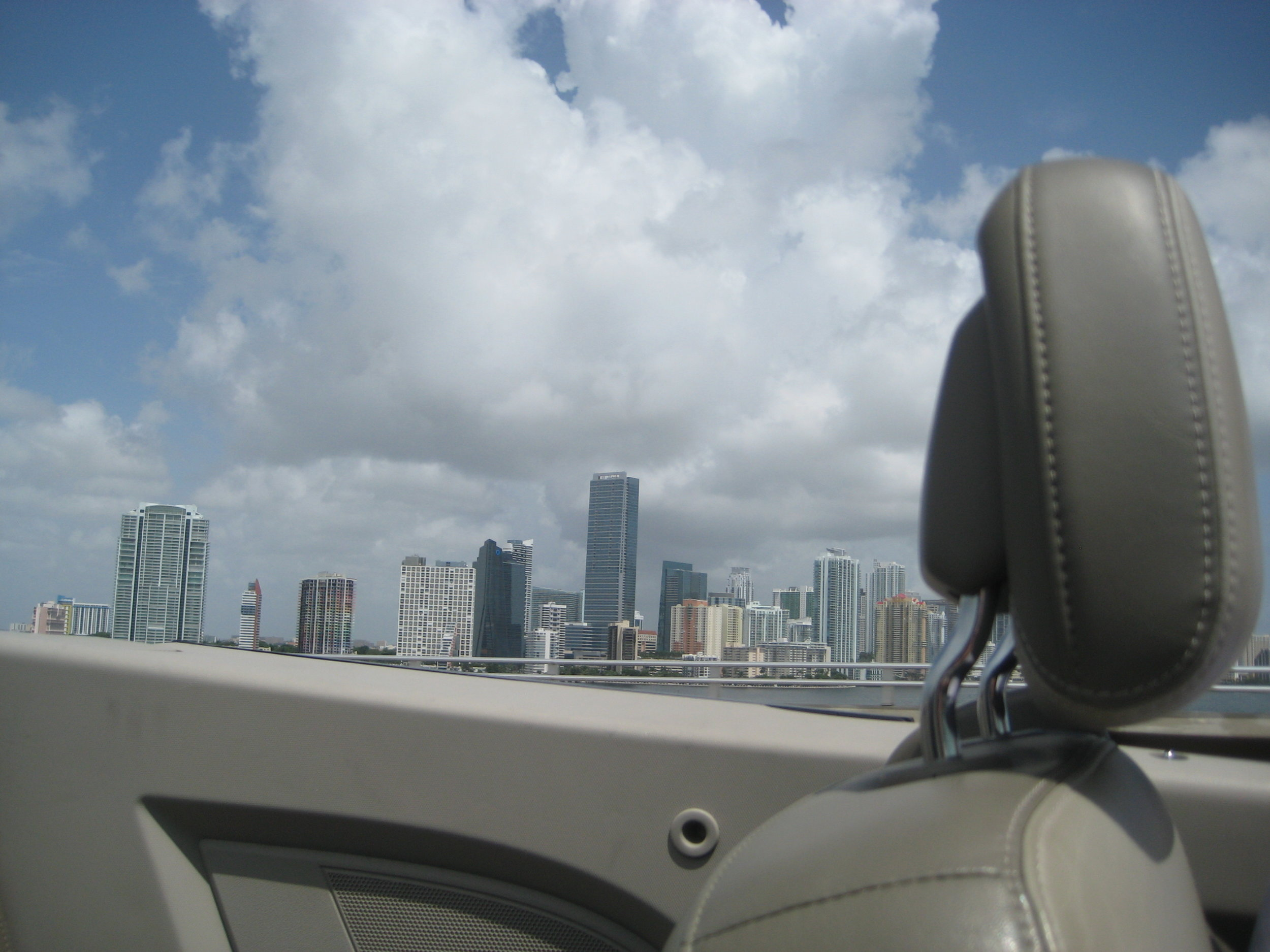 I would highly recommend south Florida in a convertible. But let's face it - we could never keep up with this kind of lifestyle long term. These luxuries will just have to stay luxuries...