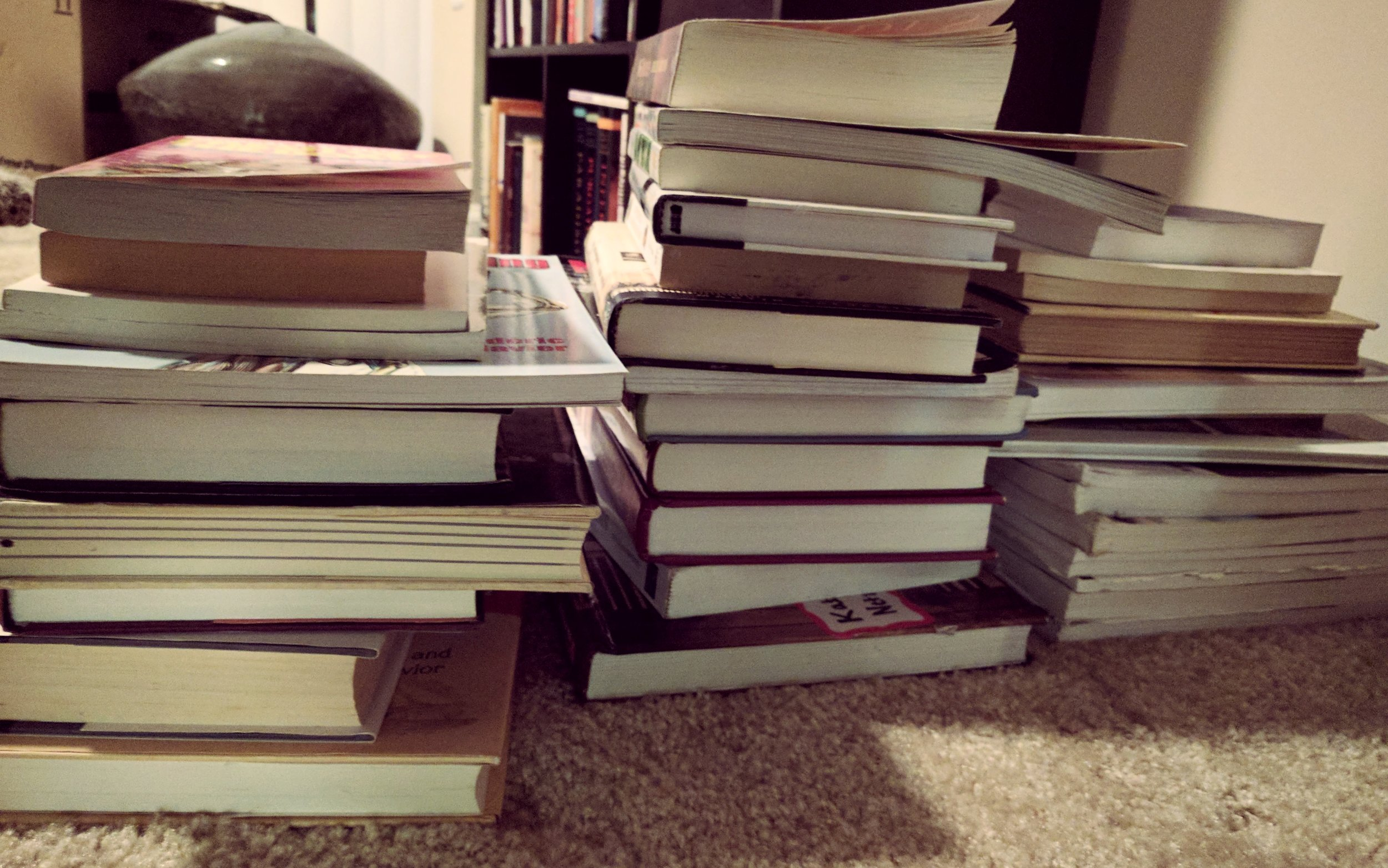 Writing this post actually inspired me to get rid of more books. From my own mouth to my own ears apparently!