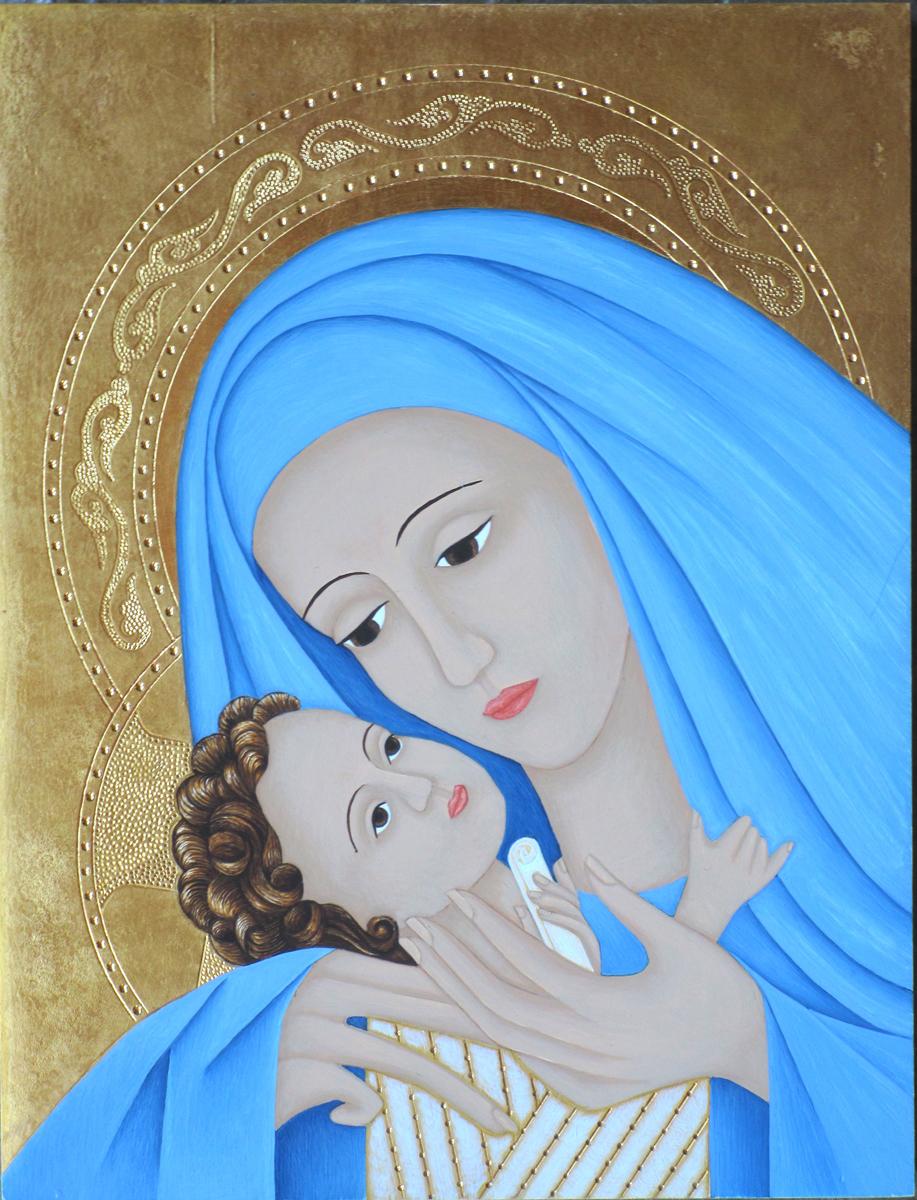 Mother of God Korsun, Blue