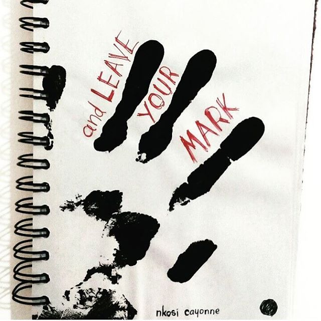 @nkosi.ca 17 y/o Graphic design student, Trinidad (3 of 3)  #designbooks #traveledition #book106 #trinidad #tobago #caribbean #design #graphicdesign #illustration #leaveamark #handprint