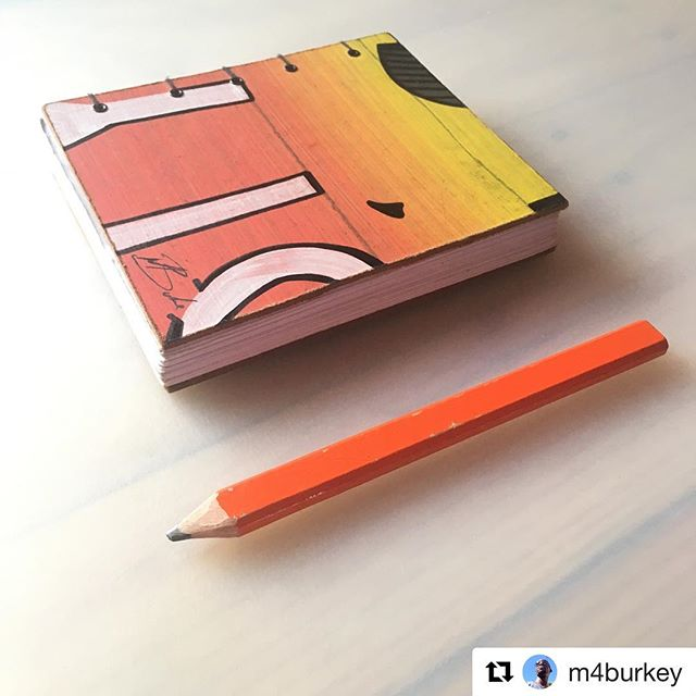 Loving these modifications to one of the early prototypes by @m4burkey #designbooks #makeitmine #sharpie