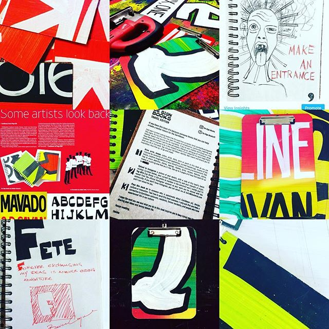A look at the past as we step into the future. We're currently doing research & development for new 2018 sign products #2017bestnine #designbooks #fetesigns #brucecayonne #books #boards #madeintrinidad #caribbean
