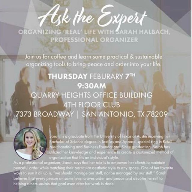 """Super excited for this fun """"Ask the Expert"""" series!  Kick off your year with some very practical organizing solutions! @organizedbysarah @legacymutualmortgage @realestatemuses @erinclementson"""