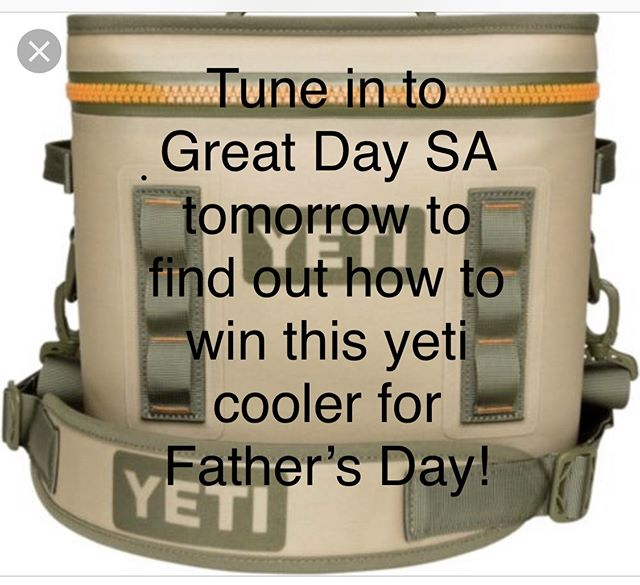 Need a great Fathers Day gift? Tune in tomorrow to @itsagreatdaysa, 9am on Kens 5 to see how you can win this @yeti cooler from @sunset_ridge_hardware