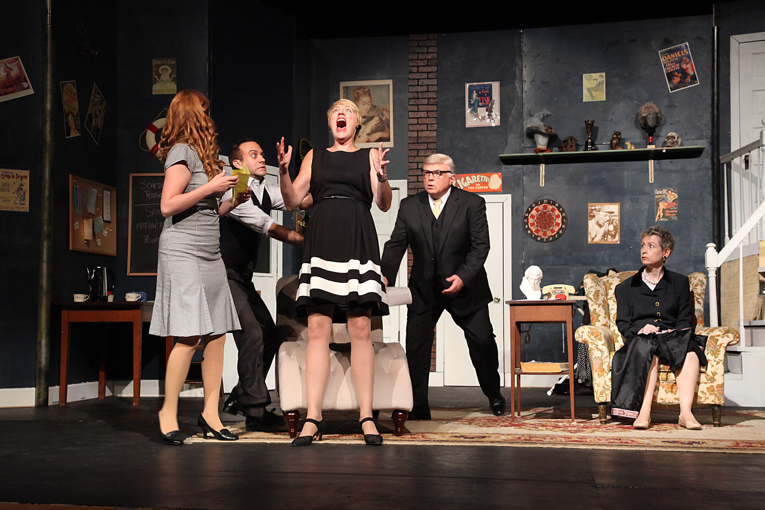 Charlotte Hay in  Moon Over Buffalo  at Saint Vincent Summer Theatre