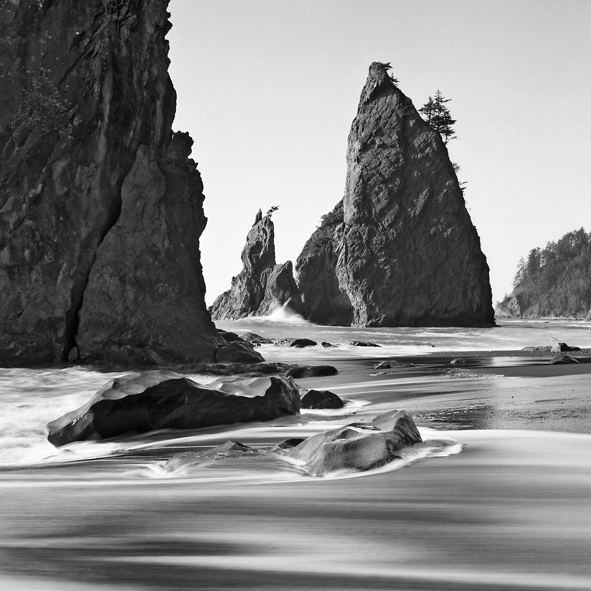 Rialto Beach, Olympic National Park, Washington © 2015.  Image: Rolleiflex 2.8 F + Zeiss Planar 1:2.8/80mm.