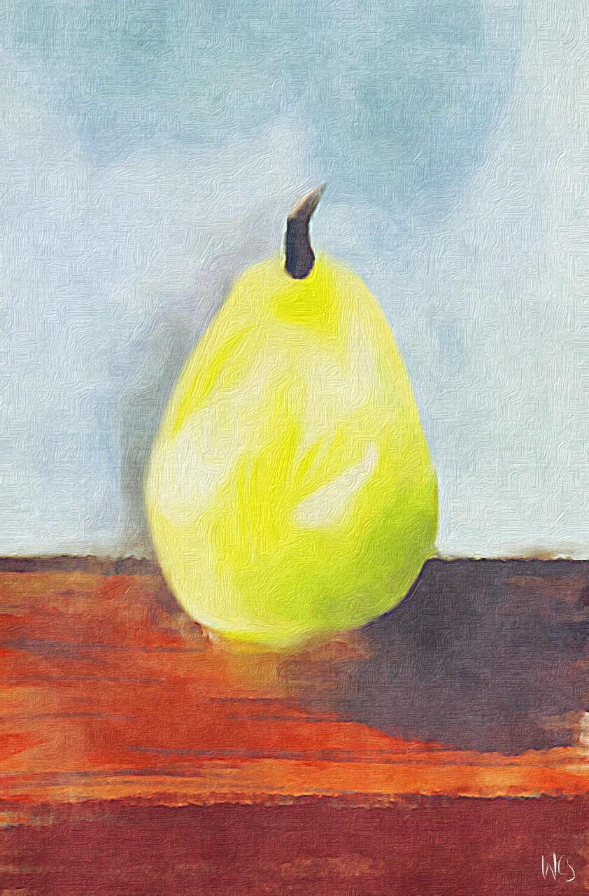 Illustration of a pear by Charlie Shifflett