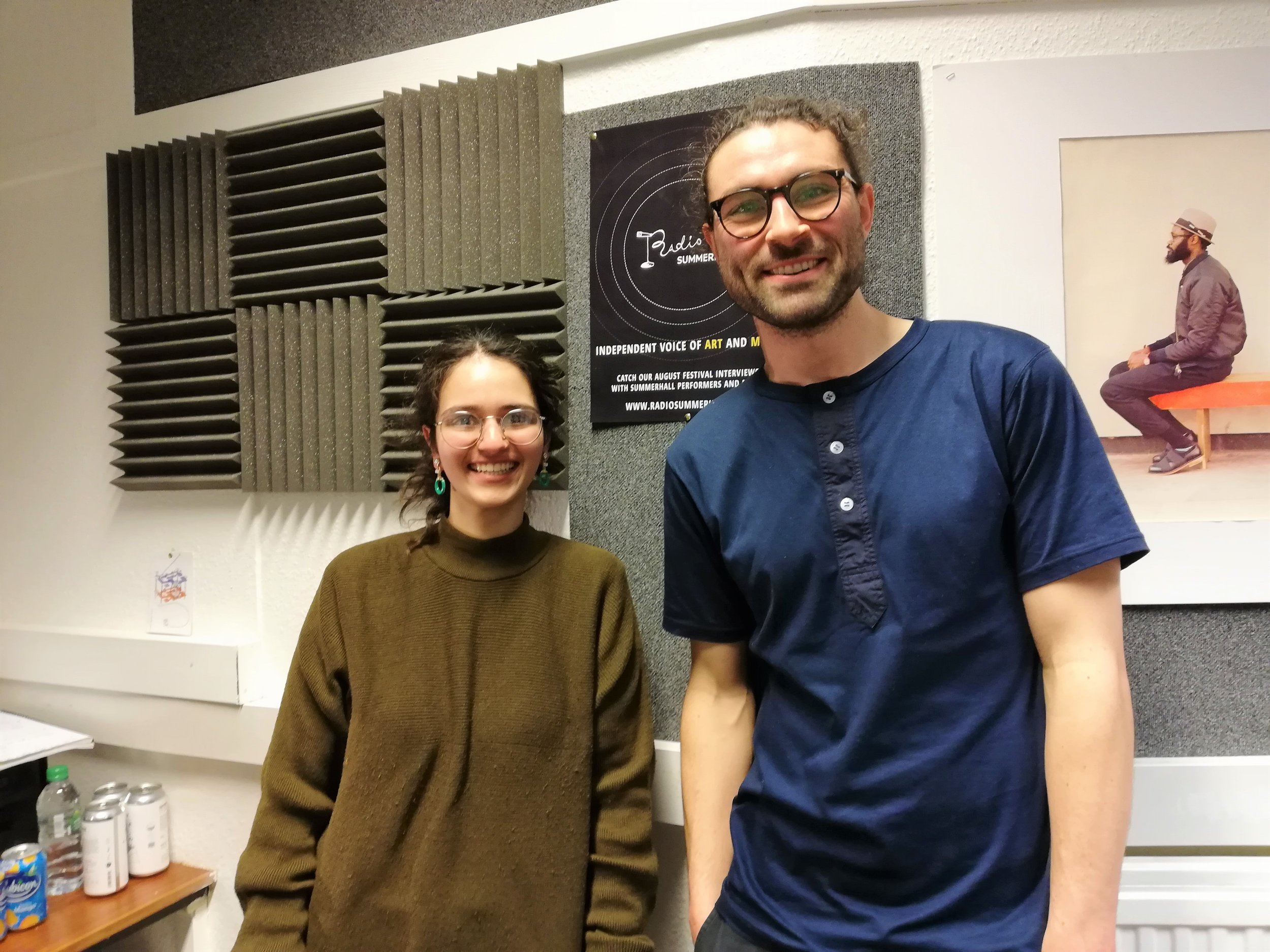 Divya Parkash and niall Dolan in Radio Summerhall.jpg