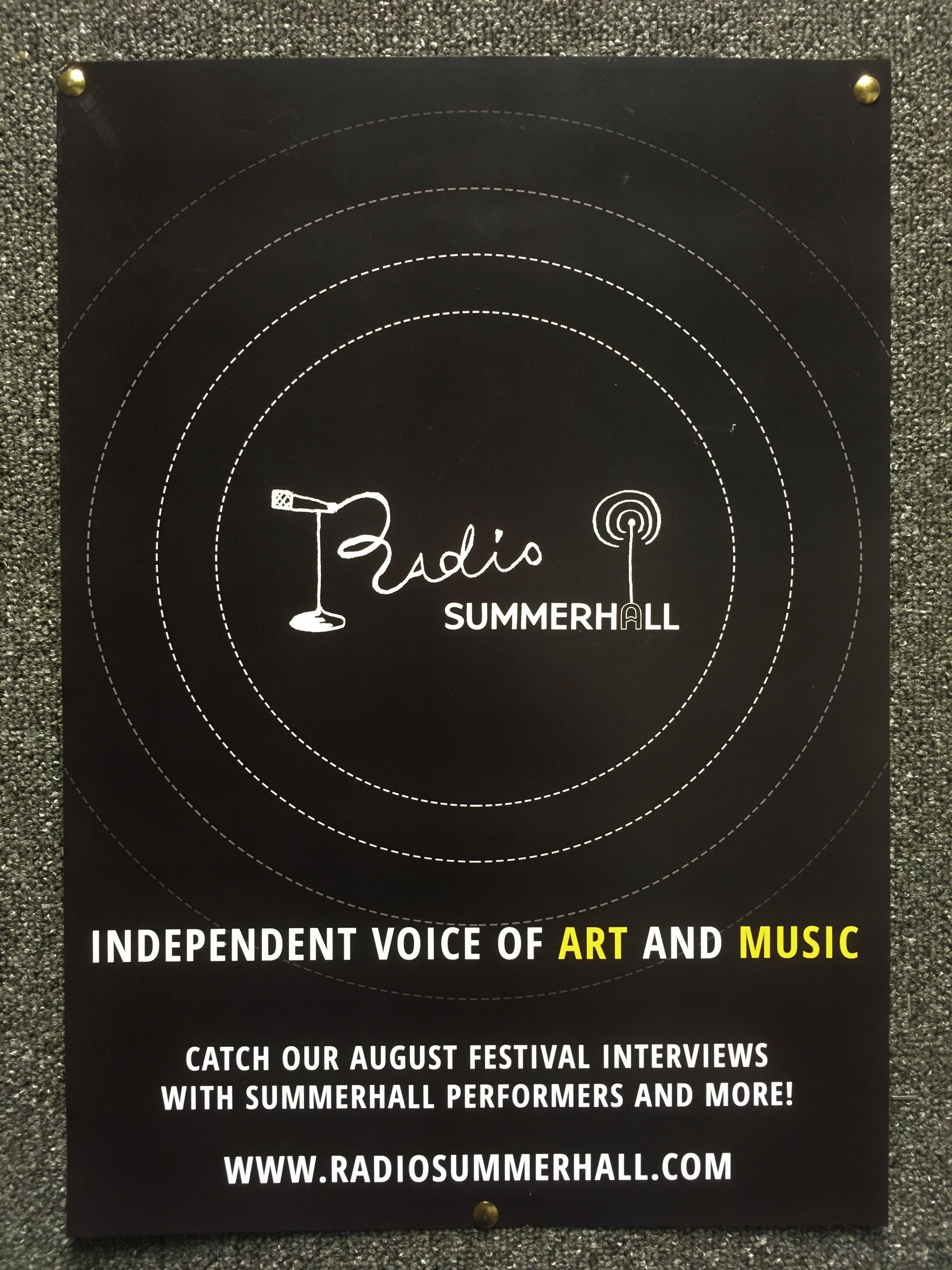 Radio Summerhall Poster.JPG