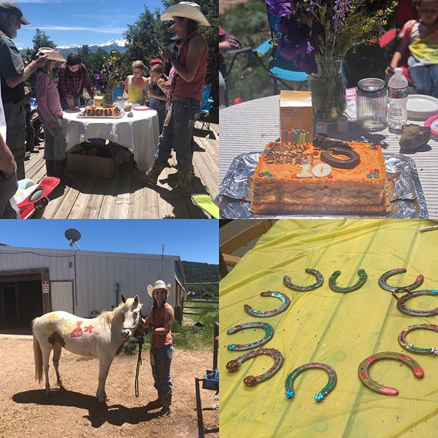 What a fun birthday party @cedarridgeranch #sustainabletourism #glamping #horsebackriding #horsebackridingbirthdayparty