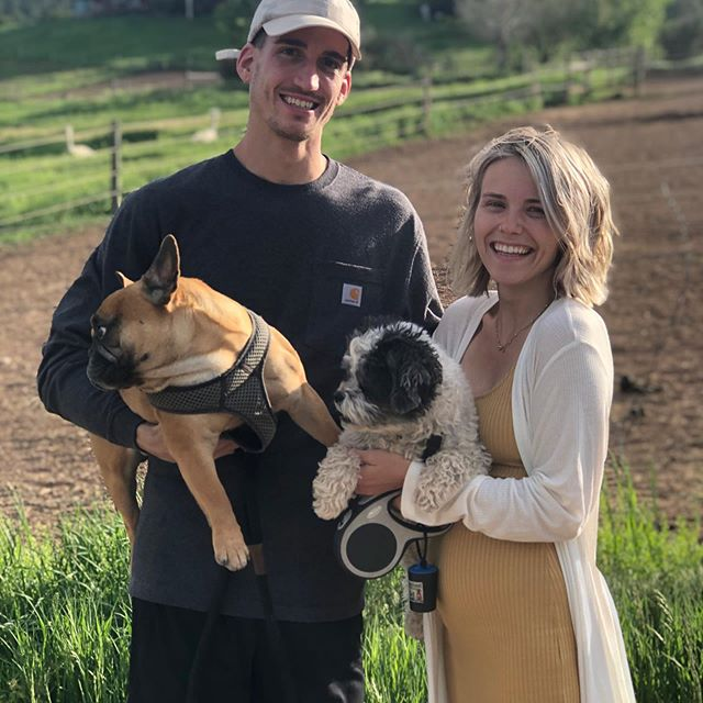 "Our happy ""glampers"" celebrating their 1 year anniversary on the ranch with their pooches and a new baby coming. Danielle found us on Instagram. @cedarridgeranch #glamping #sustainabletourism #hipcamp  #dogsofinstagram #doglovers #carbondalecolorado #instapooch #glamping with dogs #dogfriendlyhotel #petsofinstagram #petfriendlyaccommodation"