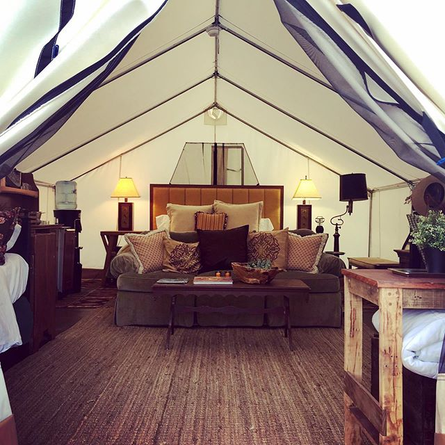 "We are so excited to have our ""Stargazer"" tent all finished with wonderful pieces that we have collected from all over the the Roaring Fork Valley. This completes our ""glamping"" units. We now have a yurt, a cabin and two safari tents. Come and stay with us. @cedarridgeranch #glamping #sustainabletourism #alpacayoga #hipcamp #wedding #weekend #pets #ridinglessons #retreats #reunion #weddingphotographer #weddingguest"