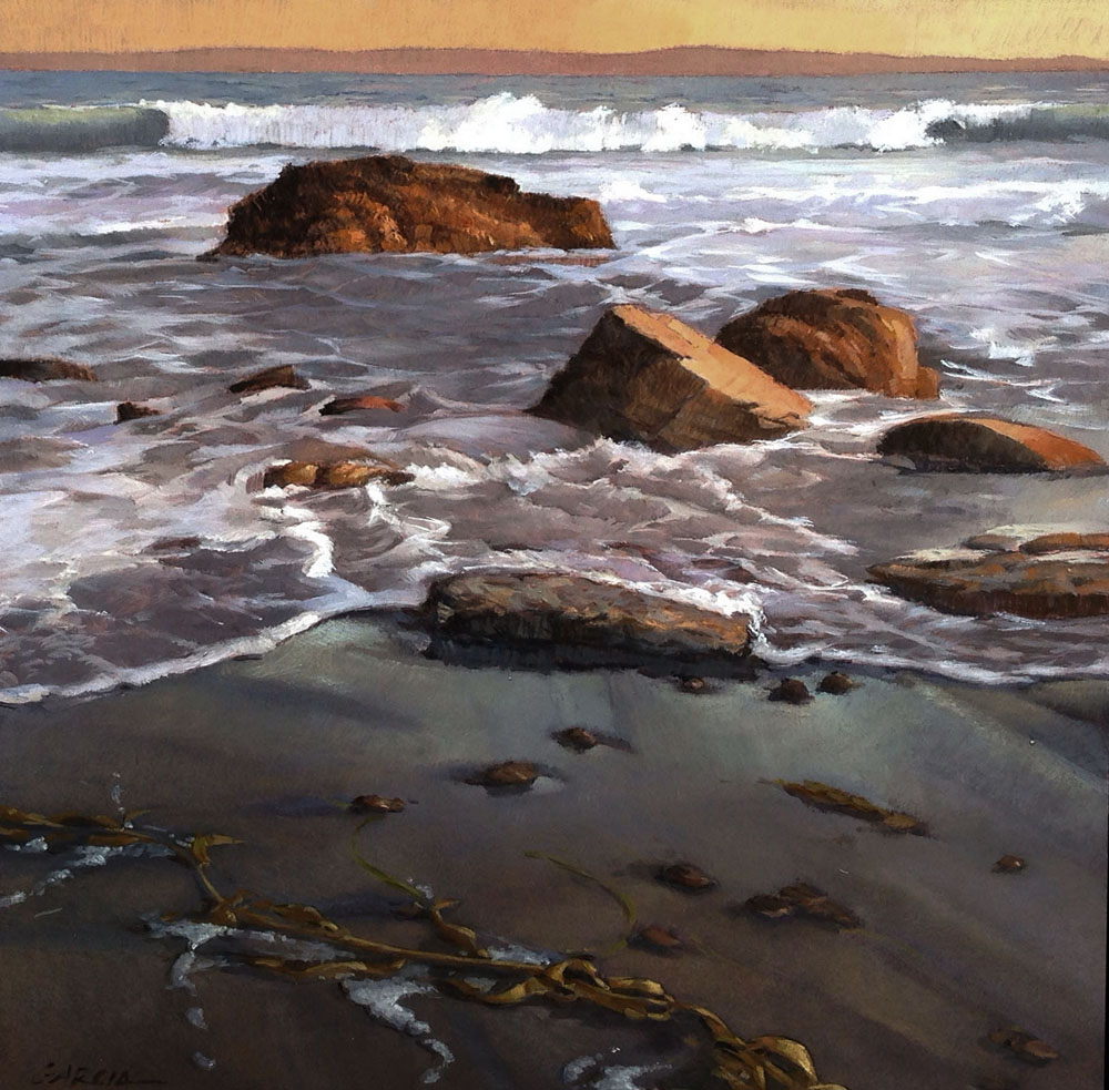 Shoreline at Thousand Steps, 12x12, oil on board, sold.