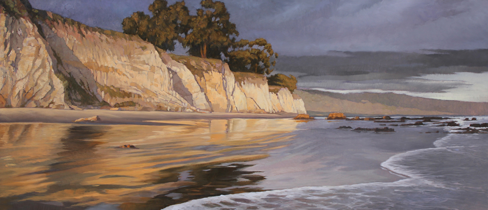 End of the Drought, 10x24, oil on board, sold.