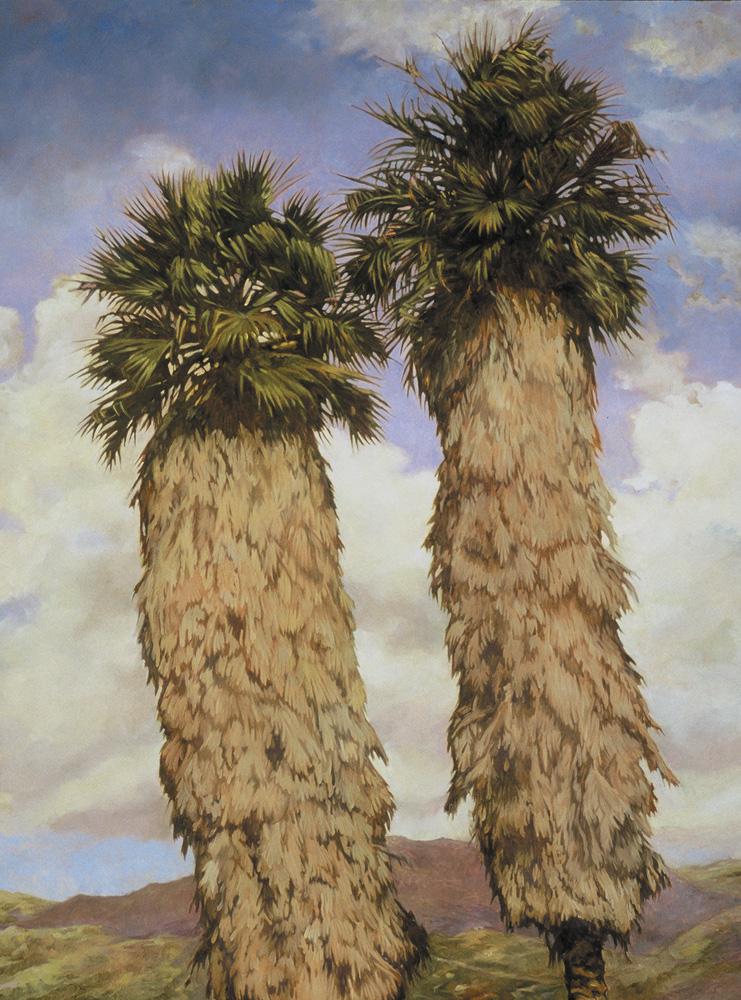 Las Positas Palms, 40x30, oil on canvas, sold.