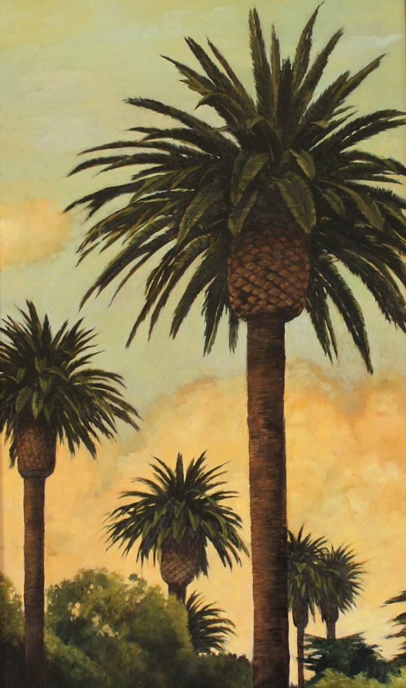 Mesa Palms, 30x20, oil on canvas, sold.