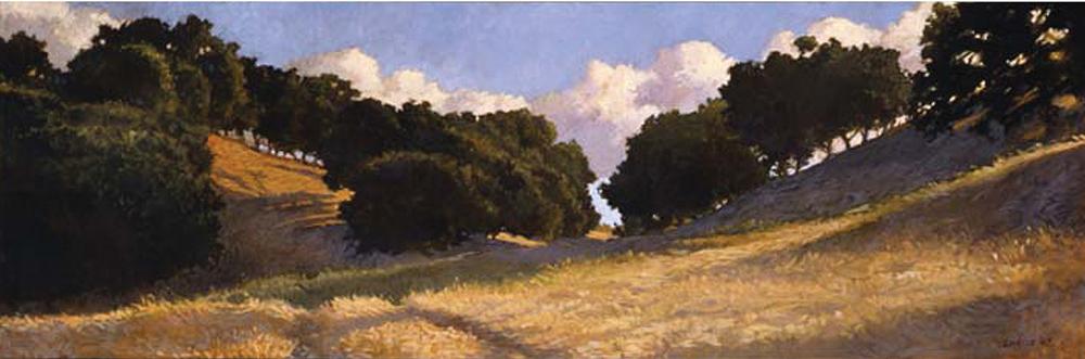 Santa Ynez Backroads, 12x36, oil on canvas, sold.