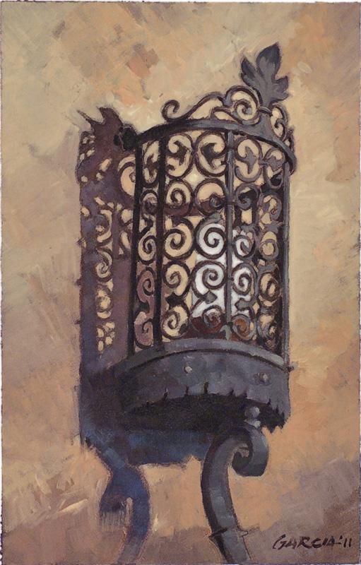 Architectural-Design-of-Reginald-Johnson Light, oil on paper, sold.