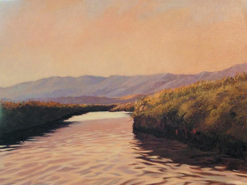 Chumash Waterways, 11x14, oil on canvas, sold.