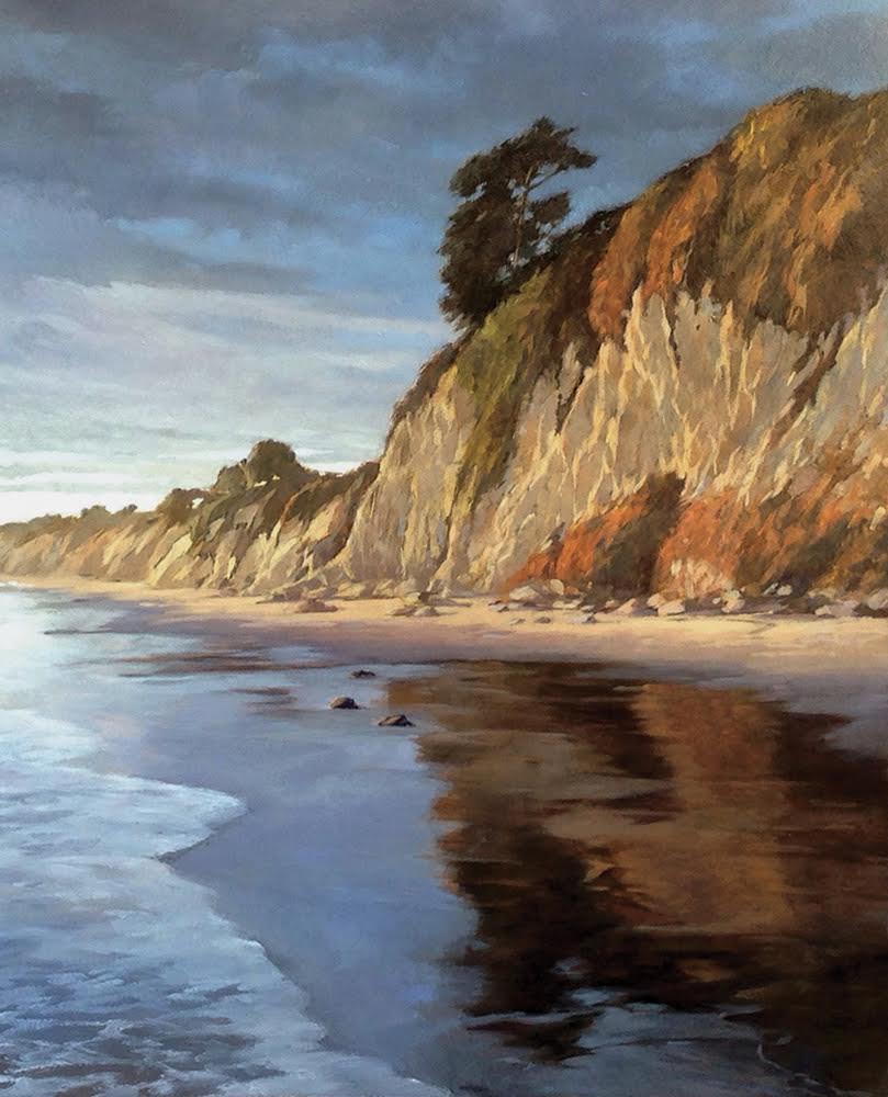Shoreline Glow, 16 x 12, oil on board. Contact  Waterhouse Gallery   SOLD