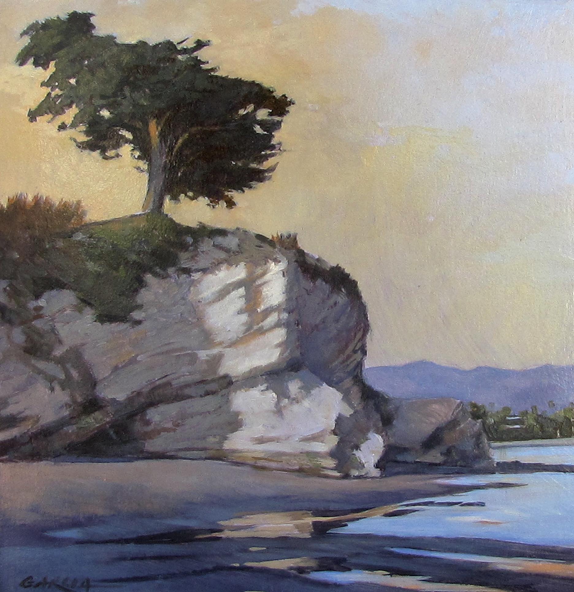 Low Tide at Leadbetter, 8 x 8, oil on board. Contact  Tartaglia Fine Art