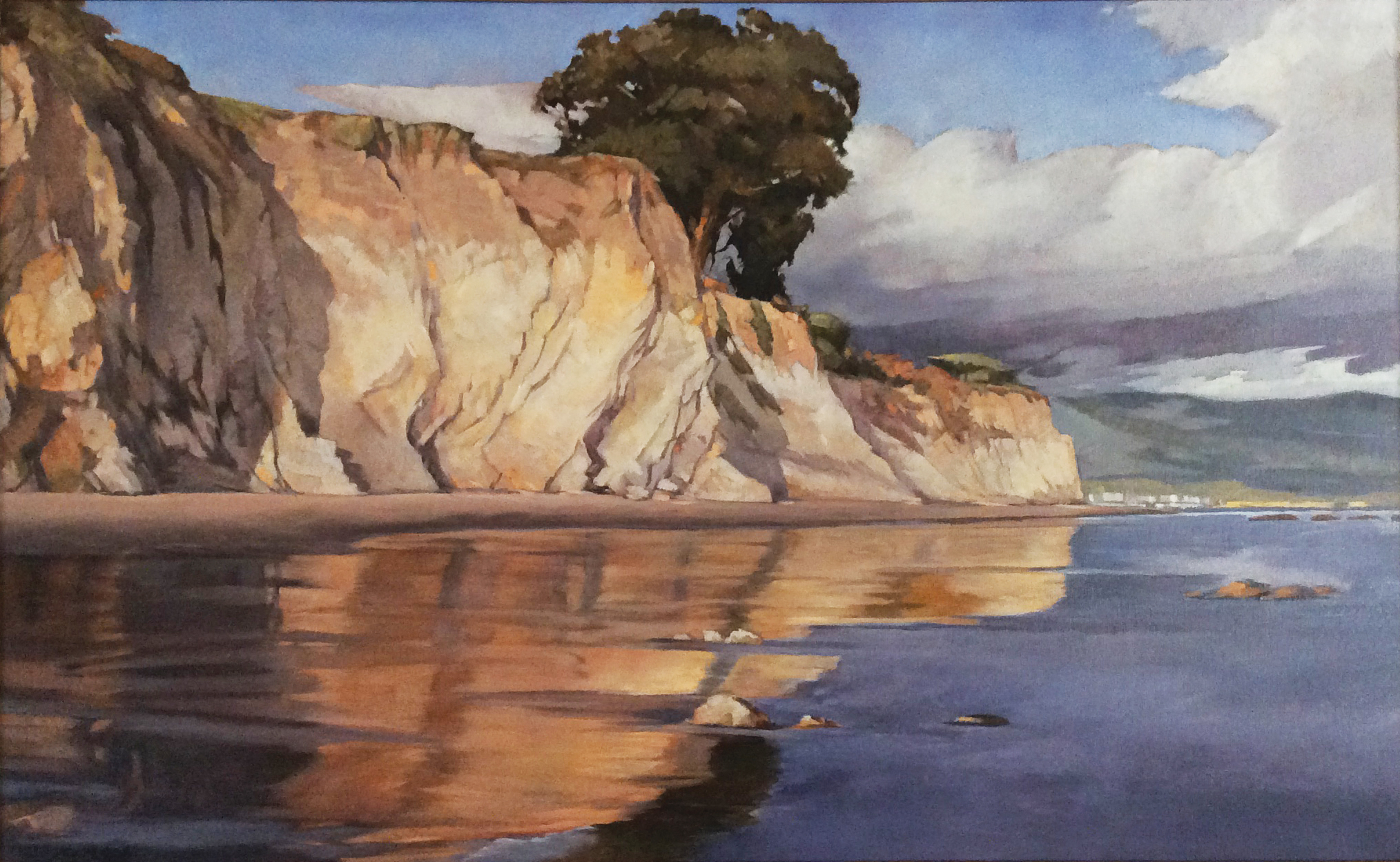 Shoreline Mirror, 18x29, oil on canvas. Contact Artist's studio  SOLD