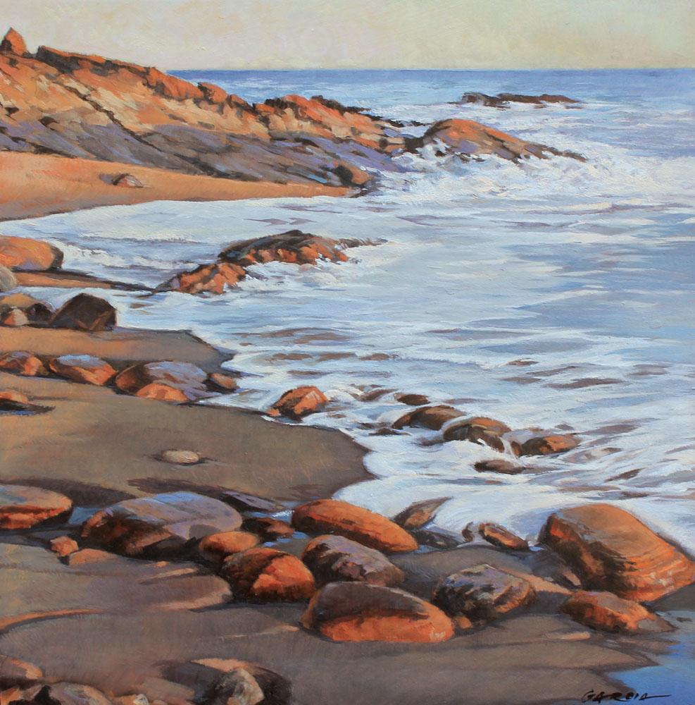 Foamy Waters, 12 x 12, oil on board. Contact   Waterhouse Gallery