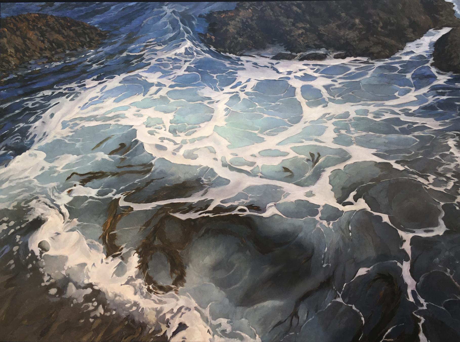 Cambria Tidal surge , 29x39, oil on board. Contact Artist's studio